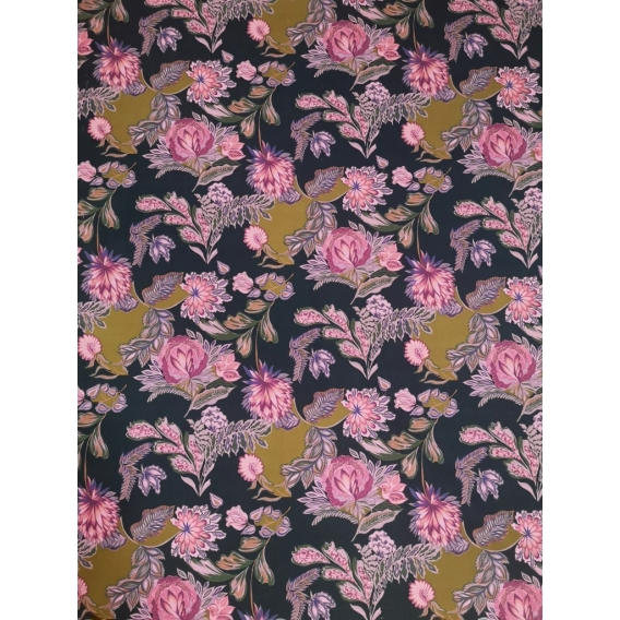 Printed cotton with stretch