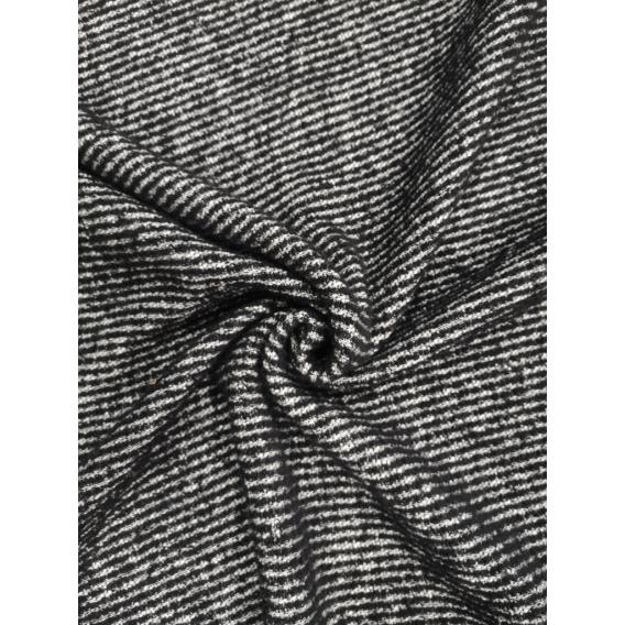 Vlnený žakard flauš