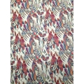 Printed plisse fabric 30%OFF