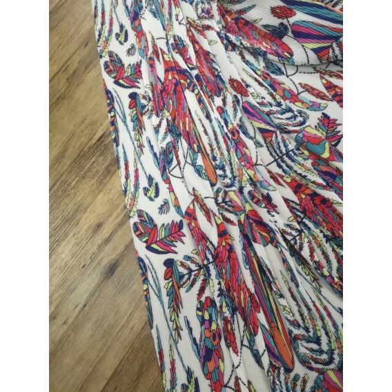 Printed plisse fabric