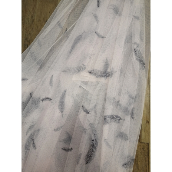 Printed tulle fabric