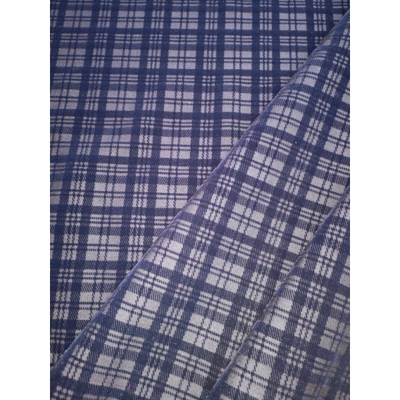 Velvet print denim fabric