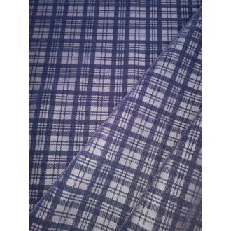 Velvet print denim fabric