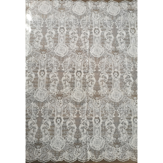 Exclusive wedding Lace fabric on tulle