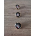 Metal button 22mm