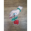 Applique Patch  Hand with a Rose