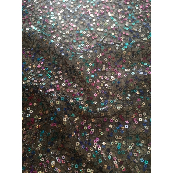 Net with sequins
