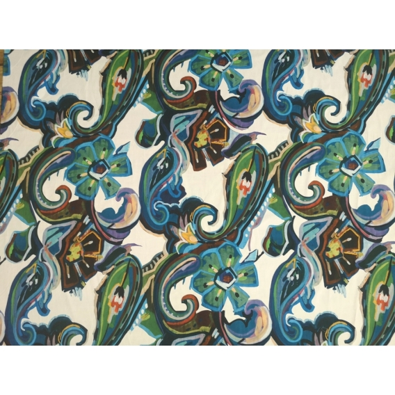 Printed cotton fabric with elastane