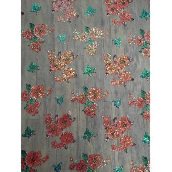 Exclusive tulle embroidery