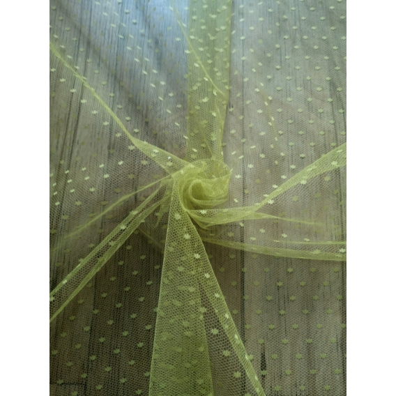 Tulle fabric with dots