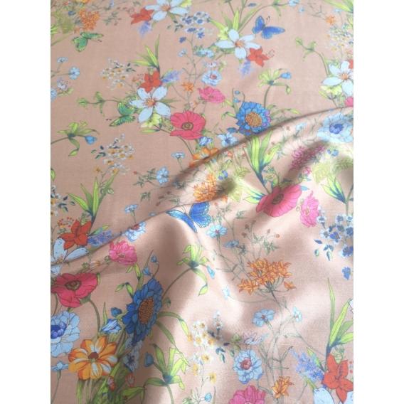 Silk shantung crepe de chine