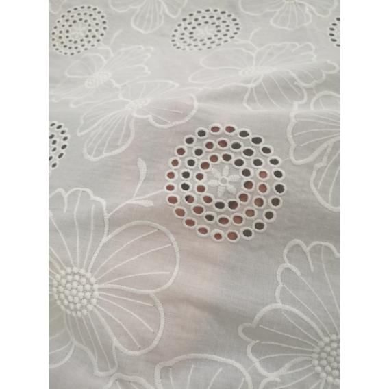Cotton madeira embroidery