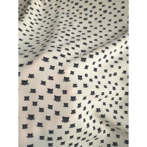 Crepe de chine print CATS