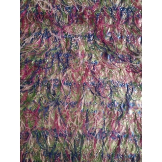 Lurex jacquard with feathers