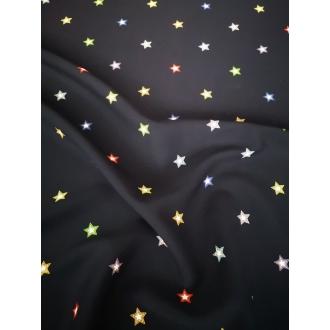 Printed stretch viscose fabric