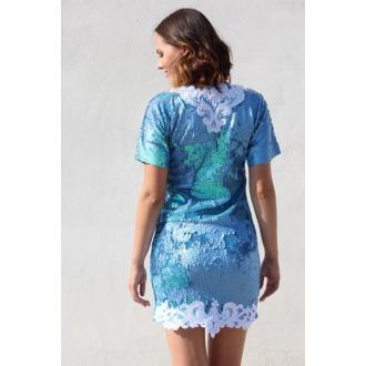 Originálne šaty s krajkou