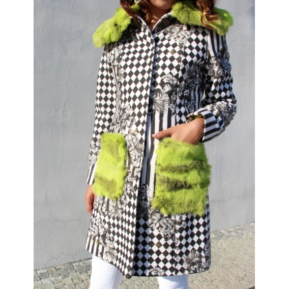 Original coat with fur