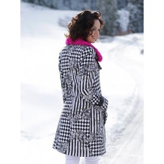 Originálny kabát s kožušinou