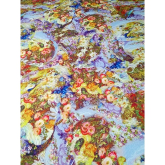 Printed wool fleece fabric 50%SALE
