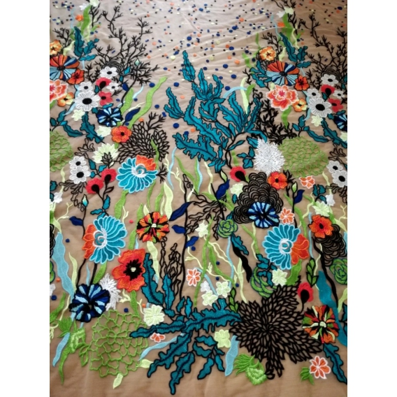Exclusive tulle embroidery 10%OFF