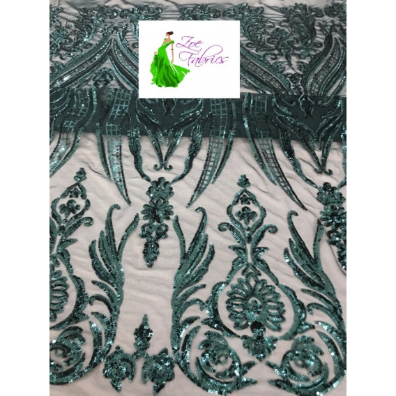 Tulle embroidery fabric with sequins