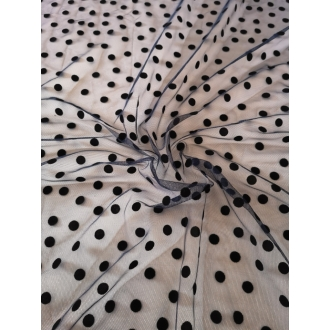 Tulle fabric with dots 50%SALE