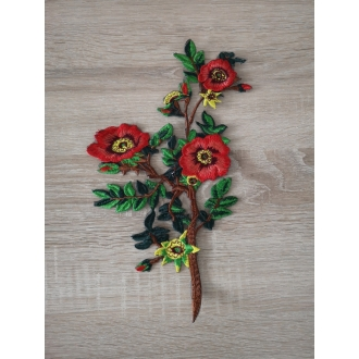 Applique trim flower