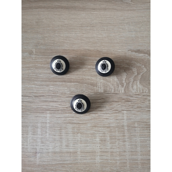 Metal button 30mm