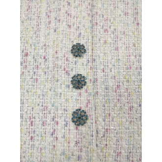Wool boucle fabric 30%SALE