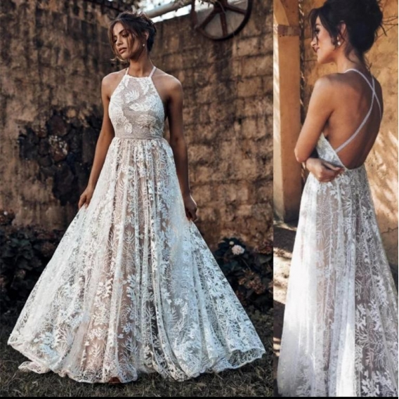 Wedding tulle embroidery