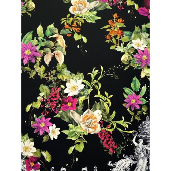 Printed jersey fabric