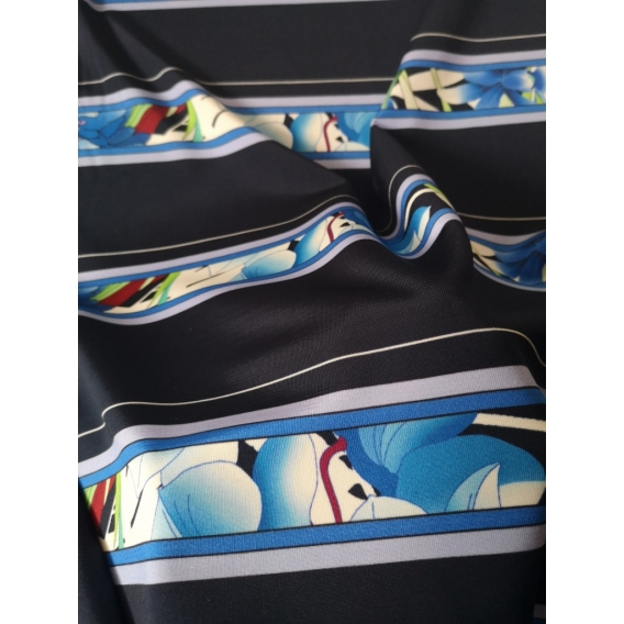 Printed jersey fabric