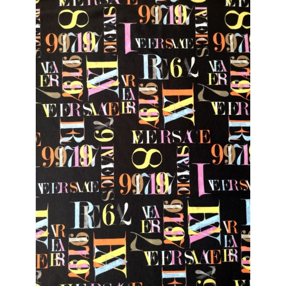 Printed jersey fabric VERSACE