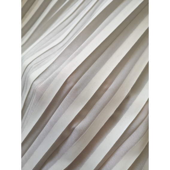 White plisse fabric