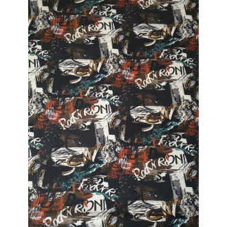 Printed jersey fabric 30%OFF